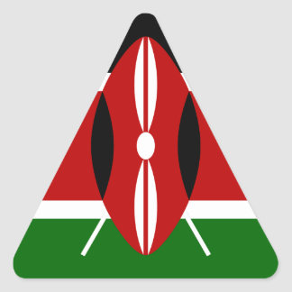 Low Cost! Kenya Flag Triangle Sticker