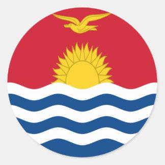 Low Cost! Kiribati Flag Classic Round Sticker