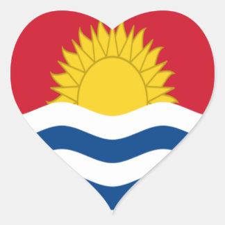 Low Cost! Kiribati Flag Heart Sticker