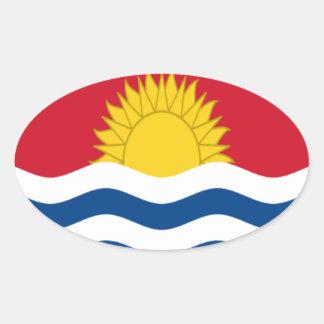 Low Cost! Kiribati Flag Oval Sticker