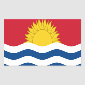 Low Cost! Kiribati Flag Rectangular Sticker