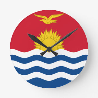 Low Cost! Kiribati Flag Round Clock