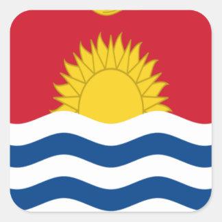Low Cost! Kiribati Flag Square Sticker