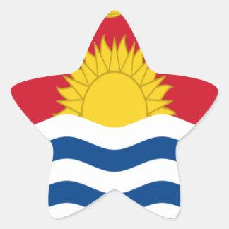 Low Cost! Kiribati Flag Star Sticker