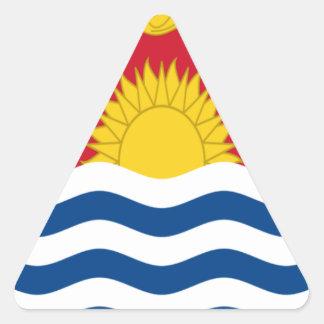 Low Cost! Kiribati Flag Triangle Sticker