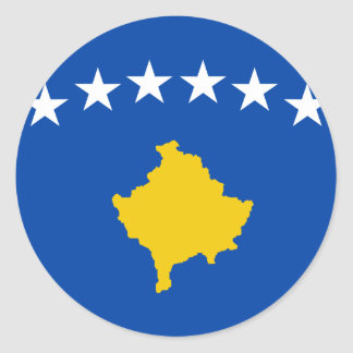 Low Cost! Kosovo Flag Classic Round Sticker
