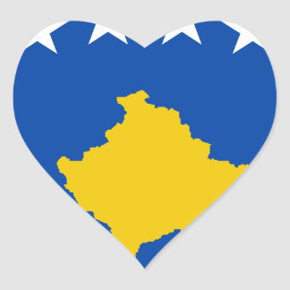 Low Cost! Kosovo Flag Heart Sticker