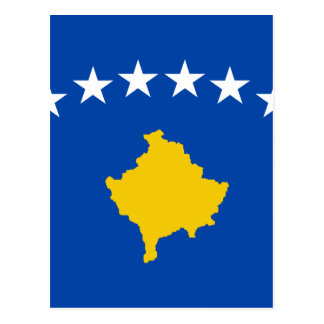Low Cost! Kosovo Flag Postcard