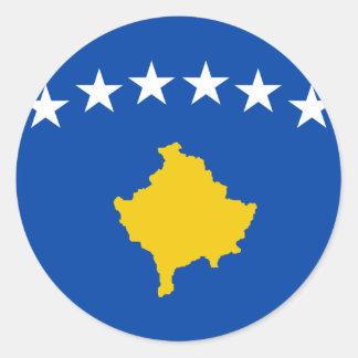 Low Cost! Kosovo Flag Round Sticker