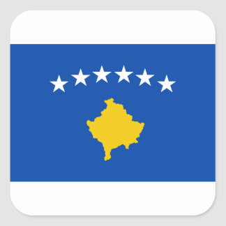 Low Cost! Kosovo Flag Square Sticker