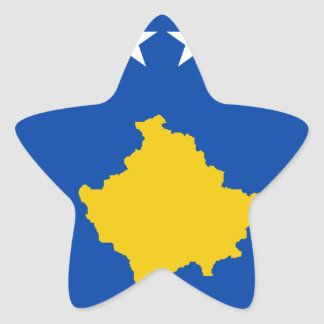 Low Cost! Kosovo Flag Star Sticker