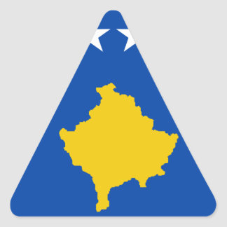 Low Cost! Kosovo Flag Triangle Sticker