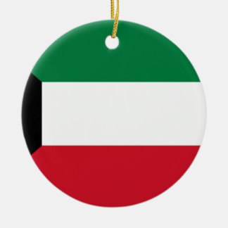 Low Cost! Kuwait Flag Ceramic Ornament