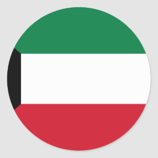Low Cost! Kuwait Flag Classic Round Sticker