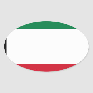 Low Cost! Kuwait Flag Oval Sticker