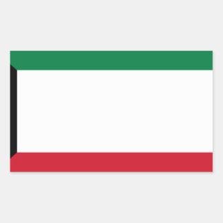 Low Cost! Kuwait Flag Rectangular Sticker
