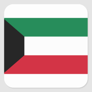 Low Cost! Kuwait Flag Square Sticker