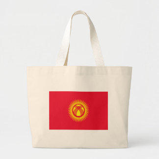 Low Cost! Kyrgyzstan Flag Large Tote Bag