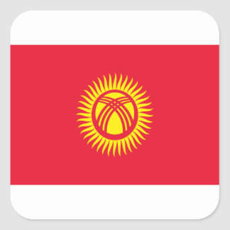 Low Cost! Kyrgyzstan Flag Square Sticker