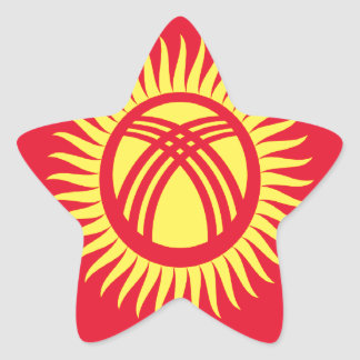 Low Cost! Kyrgyzstan Flag Star Sticker