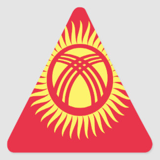 Low Cost! Kyrgyzstan Flag Triangle Sticker