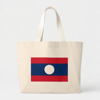 Low Cost! Laos Flag Large Tote Bag