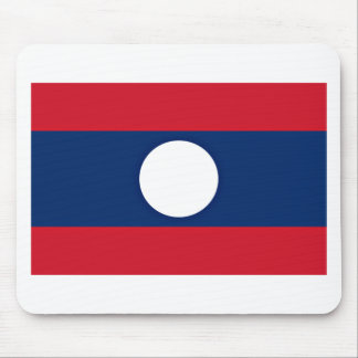 Low Cost! Laos Flag Mouse Pad