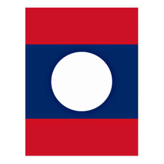 Low Cost! Laos Flag Postcard