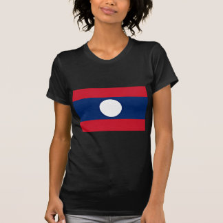 Low Cost! Laos Flag T-Shirt