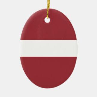 Low Cost! Latvia Flag Ceramic Oval Decoration