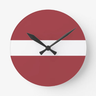 Low Cost! Latvia Flag Round Clock