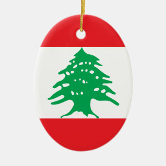 Low Cost! Lebanon Flag Ceramic Ornament