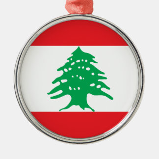 Low Cost! Lebanon Flag Metal Ornament