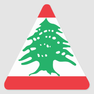 Low Cost! Lebanon Flag Triangle Sticker