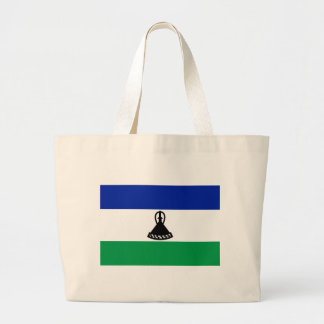 Low Cost! Lesotho Flag Large Tote Bag