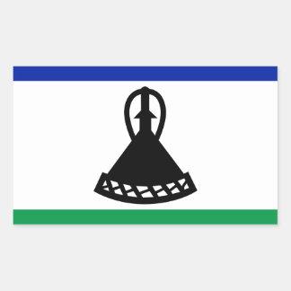 Low Cost! Lesotho Flag Rectangular Sticker