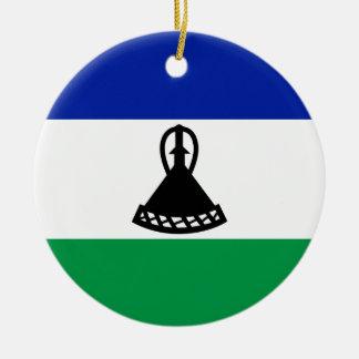 Low Cost! Lesotho Flag Round Ceramic Decoration