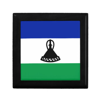 Low Cost! Lesotho Flag Small Square Gift Box
