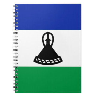 Low Cost! Lesotho Flag Spiral Note Book