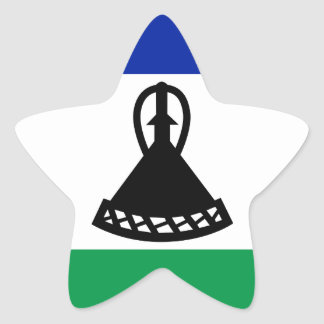 Low Cost! Lesotho Flag Star Sticker