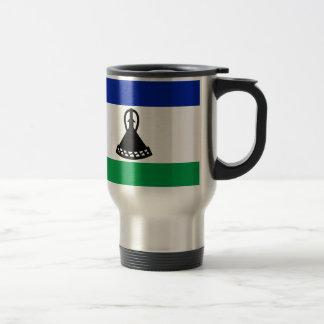 Low Cost! Lesotho Flag Travel Mug