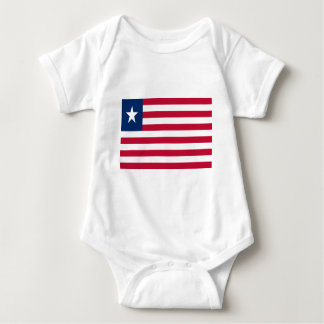 Low Cost! Liberia Flag Baby Bodysuit