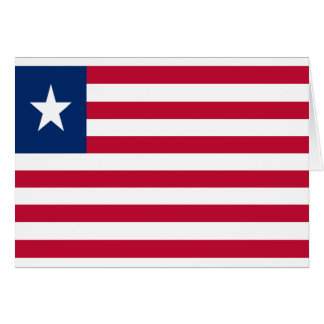 Low Cost! Liberia Flag Card
