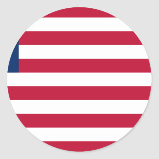 Low Cost! Liberia Flag Classic Round Sticker