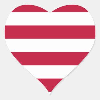 Low Cost! Liberia Flag Heart Sticker