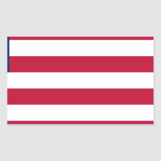 Low Cost! Liberia Flag Rectangular Sticker