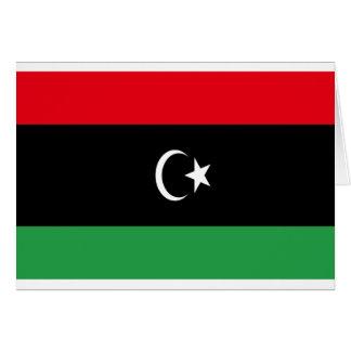 Low Cost! Libya Flag Card