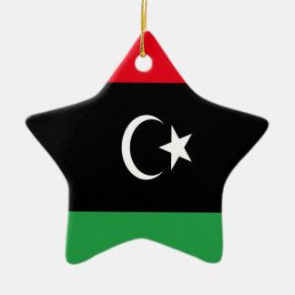 Low Cost! Libya Flag Ceramic Ornament