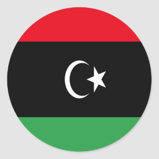 Low Cost! Libya Flag Classic Round Sticker