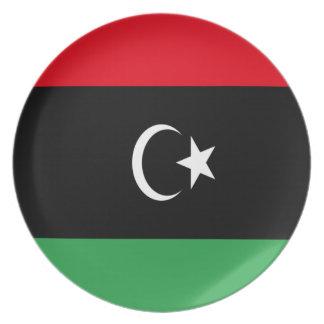 Low Cost! Libya Flag Plate
